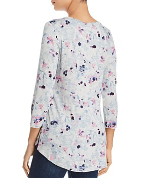 Cupio - Abstract Floral Tunic Top