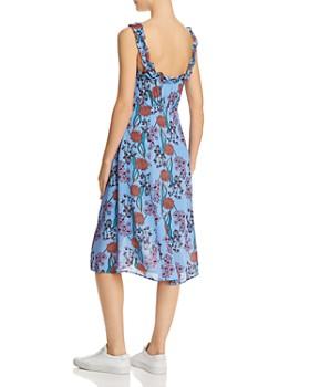 ASTR the Label - Floral Ruffle Midi Dress