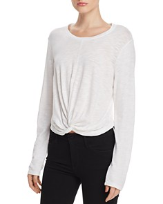 Splendid - Long-Sleeve Twist-Front Tee - 100% Exclusive