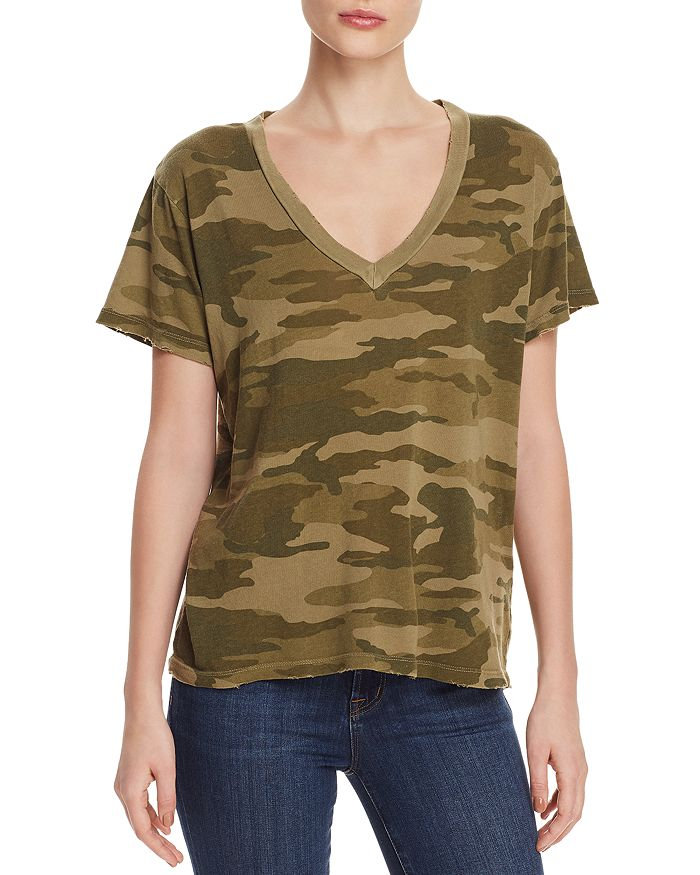 147c1279 Current/Elliott Distressed Camo Tee | Bloomingdale's