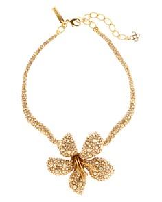 """Oscar de la Renta - Pavé Flower Necklace, 12"""""""