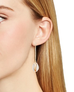 AQUA - Shell Hoop Earrings - 100% Exclusive