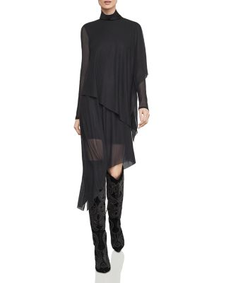 Asymmetric Tiered Turtleneck Dress by Bcbgmaxazria