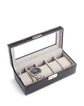 ROYCE New York - Aristo Leather Five Slot Watch Box Display