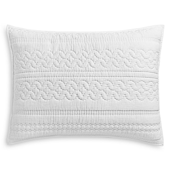Sky - Soft Crinkle Quilted Standard Sham, Pair - 100% Exclusive