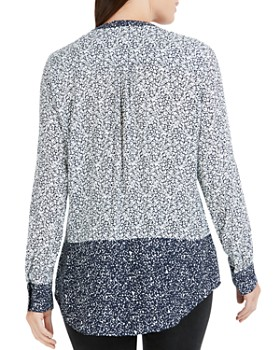Foxcroft - Mixed Ditsy Floral Print Top