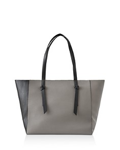 REISS - Kate Color Block Leather Knot Tote