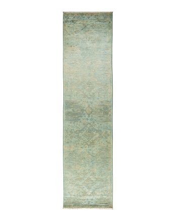 "Solo Rugs - Vibrance Collection Vita Hand-Knotted Area Rug, 3'1"" x 12'4"""