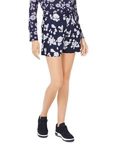 MICHAEL Michael Kors - Pleated Floral Mini Shorts