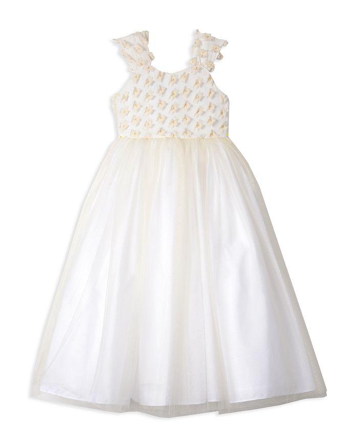 Badgley Mischka - Girls' 3-D Flower Dress - Big Kid