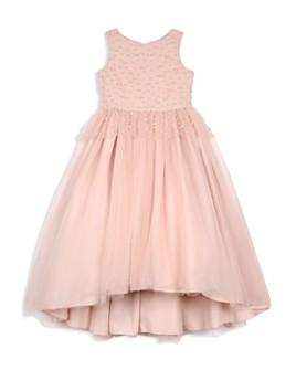 Badgley Mischka - Girls' Pearl-Embellished Dress - Big Kid