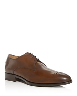 PASTORI - Men's Hadrian Leather Plain Toe Oxfords