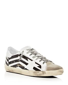 Golden Goose Deluxe Brand - Unisex Superstar Leather Flag Low-Top Sneakers