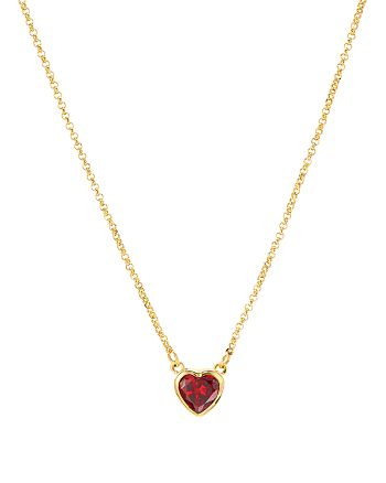 "kate spade new york - Mini Pendant Heart Necklace, 15"""
