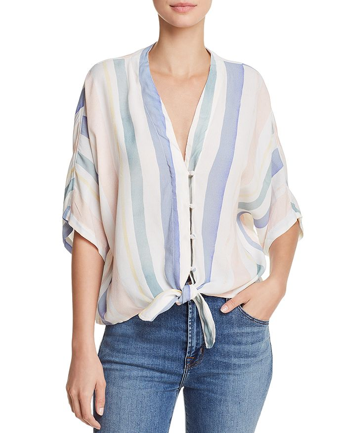 4dd60568c Rails Thea Striped Tie-Front Top | Bloomingdale's