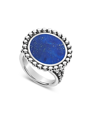 Lagos Sterling Silver Maya Lapis Circle Ring-Jewelry & Accessories