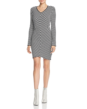 rag & bone/Jean Halifax Striped Rib-Knit Dress