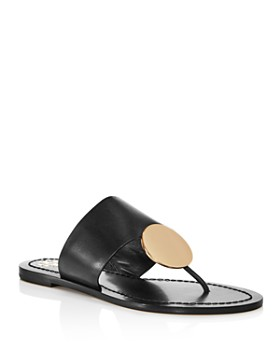 54a722931ed90 Tory Burch - Women s Patos Disc Leather Thong Sandals ...