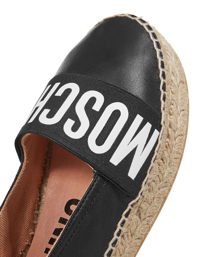 ba01371a7554 Moschino - Women s Logo Leather Espadrille Flats