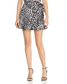 BB DAKOTA - Leopard Faux-Wrap Skirt - 100% Exclusive