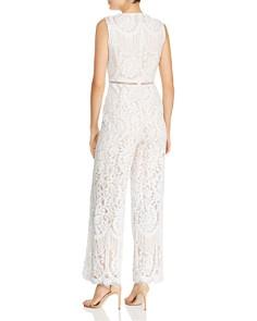 AQUA - Wide-Leg Lace Jumpsuit - 100% Exclusive