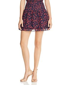 AQUA - Smocked Floral Mini Skirt - 100% Exclusive