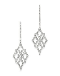 Bloomingdale's - Micro-Pavé Diamond Drop Earrings in 14K White Gold, 0.60 ct. t.w. - 100% Exclusive