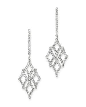 Bloomingdale's Micro-Pave Diamond Drop Earrings in 14K White Gold, 0.60 ct. t.w. - 100% Exclusive
