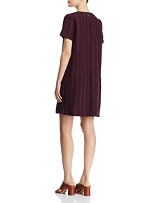 Eileen Fisher Petites - Striped Organic Linen Shift Dress - 100% Exclusive