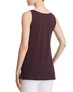 Eileen Fisher - Scoop Neck Silk Tunic Tank