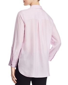 Eileen Fisher Petites - Silk Classic Button-Down Top