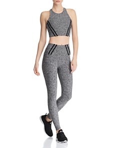 Beyond Yoga - Stripe Down Space-Dye Leggings