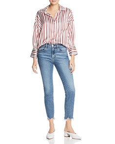 Anine Bing - Mia Striped Silk Shirt