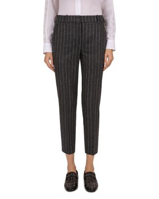Pinstripe Slim Ankle Pants by The Kooples