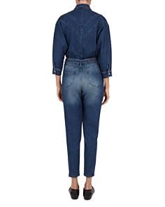 The Kooples - Studded Denim Belted Jumpsuit