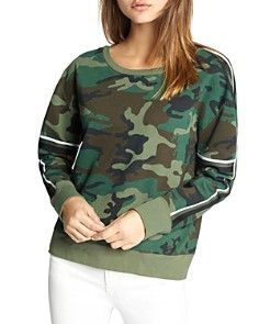 Sanctuary - Backtrack Camo Stripe Sweatshirt
