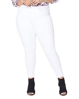 NYDJ Plus - Ami Skinny Ankle Jeans in Optic White