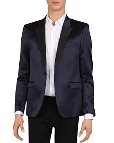 The Kooples - Slim Fit Tuxedo Jacket with Satin Collar