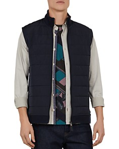 Ted Baker - Flie Quilted Nylon & Jersey Gilet