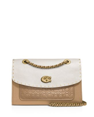 Parker Mixed Media Studded Convertible Shoulder Bag by Coach