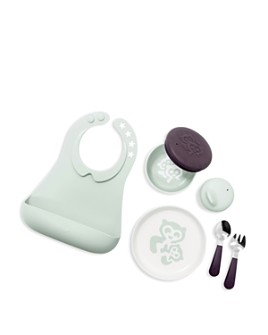 Stokke - Munch Complete Soft Mint Bowl, Sippy Cup, Plate, Fork, Spoon & Bib Set