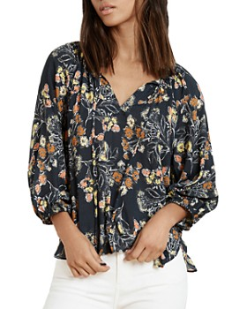 7e89a821031a7 Velvet by Graham   Spencer - Sharla Floral Peasant Top ...