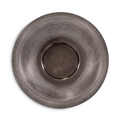 Howard Elliott - Textured Smoke Black Small Metal Platter