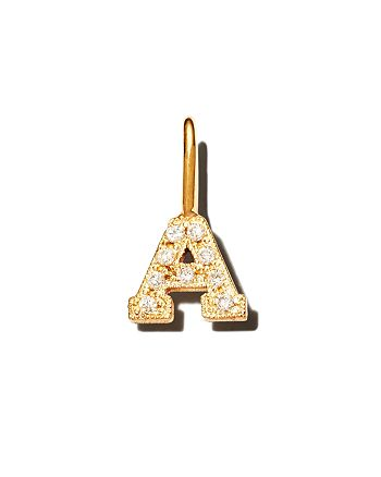 Zoë Chicco - 14K Yellow Gold Diamond Initial Charm