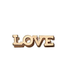 Zoë Chicco - 14K Yellow Gold Itty Bitty LOVE Stud Earring