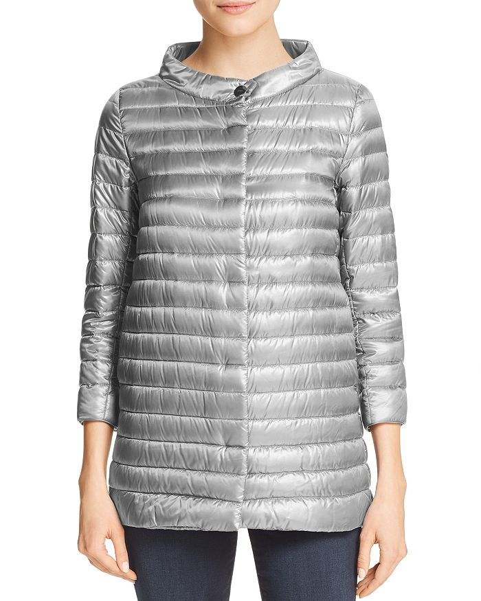 Herno - Nylon Three Quarter-Sleeve Down Coat