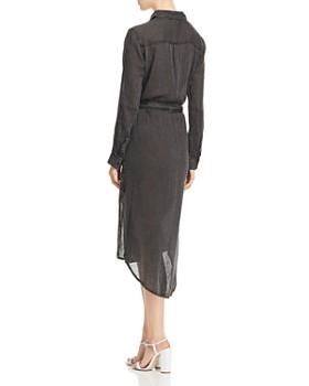 Elan - Striped Tie-Waist Shirt Dress