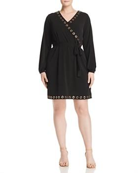 f68410e025 MICHAEL Michael Kors Plus - Grommet Faux-Wrap Dress ...