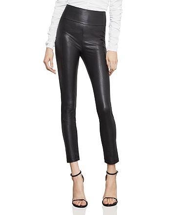BCBGMAXAZRIA - Blossom Faux Leather Skinny Pants