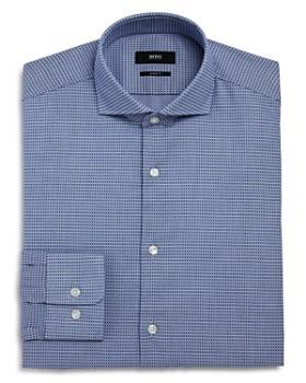 b690b6580e8 BOSS - Micro-Textured Regular Fit Dress Shirt ...